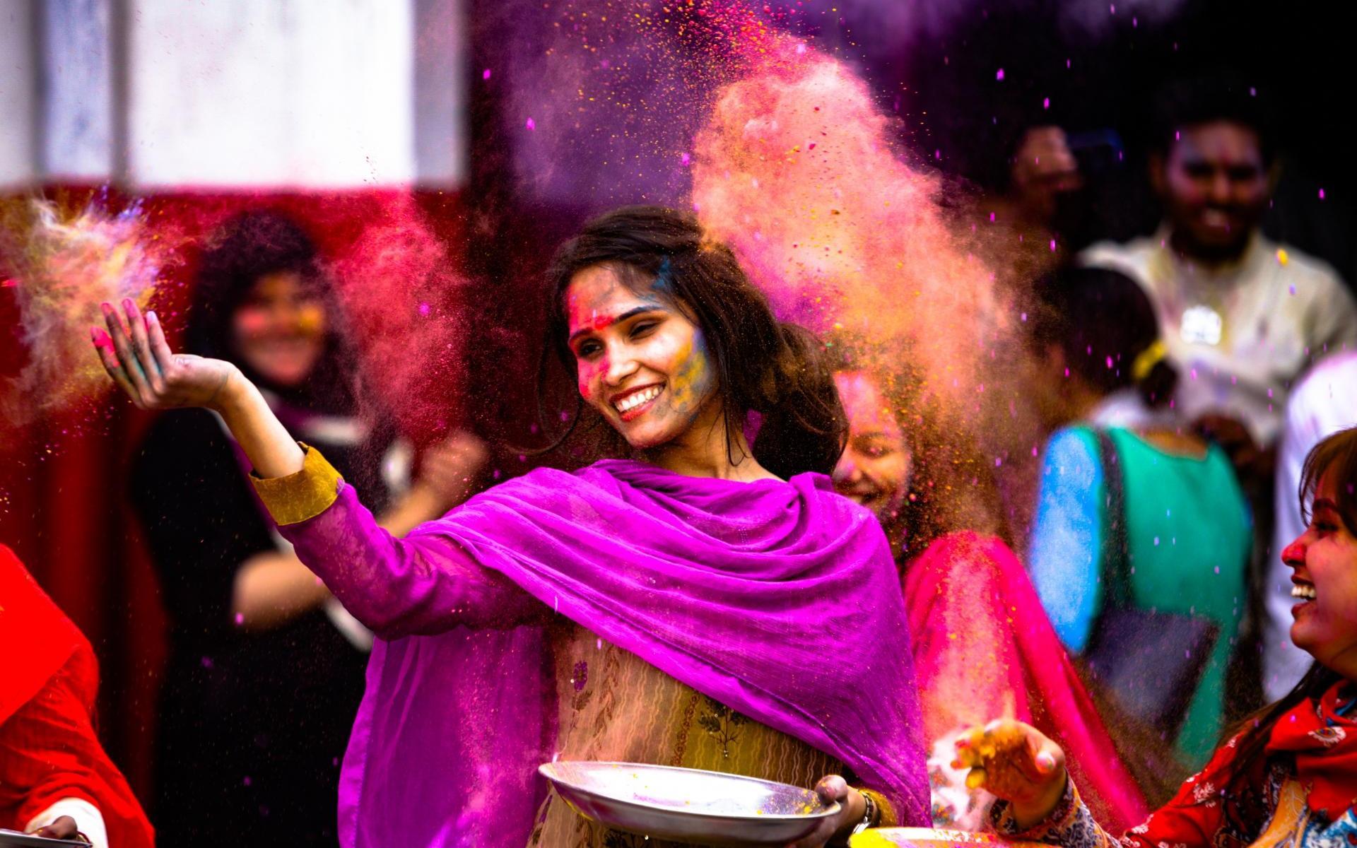 Holi fête des couleurs en Inde